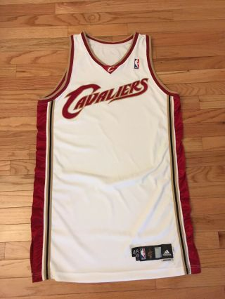 Cleveland Cavaliers Nba Authentic Adidas 2009 - 10 Game Issued Jersey Size 46,  4