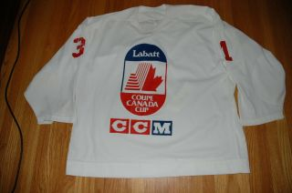 Nhl Team Canada 1991 Canada Cup Grant Fuhr Game Used/issued Practice Jersey