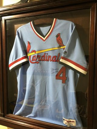 Yadier Molina Autographed Game St.  Louis Cardinals Jersey Beckett