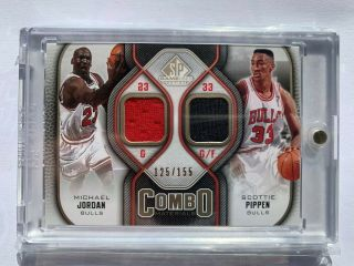 Michael Jordan 09 - 10 Sp Game Combo Materials 125/155 With Scottie Pippen