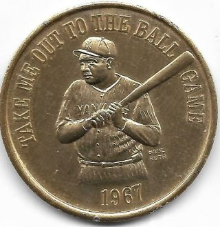 "1967 Take Me Out To The Ball Game - Orleans Mardi Gras - 1 - 3/4 "" Token"