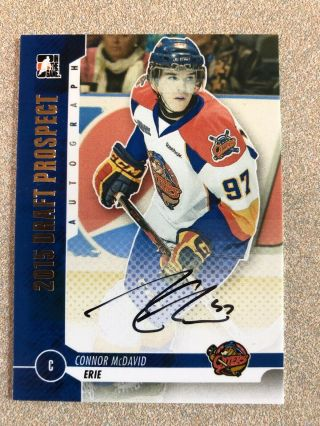 2013 - 14 Itg In The Game Connor Mcdavid Autograph Oilers,  Erie Otters Auto