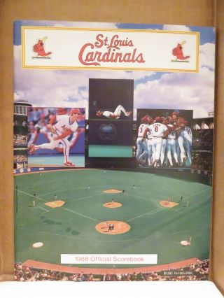 St.  Louis Cardinals 1988 Official Scorebook (game Vs.  York Mets)