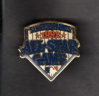 1992 All Star Game Pin Back Button Padres Orange Ltr