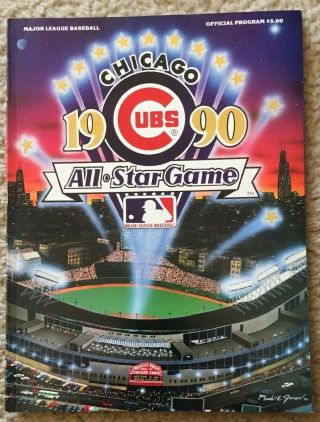 1990 All Star Game Program,  Wrigley Field,  Chicago Cubs