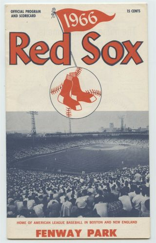 Boston Red Sox 1966 Scorecard - Red Sox Vs.  Braves,  Jimmy Fund Game - Ex/nm