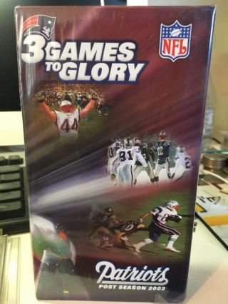 England Patriots 3 Games To Glory (vhs).  The Bowl Victory Nip