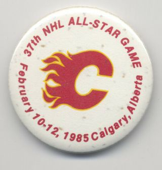 1985 37th Nhl All - Star Game In Calgary Pinback Button