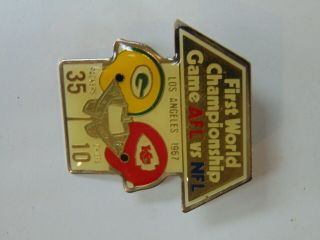 Starline First World Chamionship Game Afl Nfl Pin First Bowl Football Pin