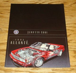 1993 Cadillac Allante Sales Sheet Brochure 93