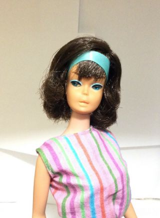 Vintage Barbie Low Color Midnight Sidepart American Girl 1 Day
