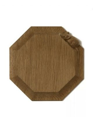 Robert Thompson Mouseman Carved Oak Chopping Cheese Board