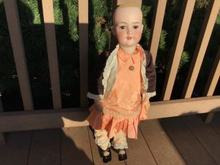 "Armand Marseille 26"" Germany Bisque Head Doll Composition Body Fully Clothed"