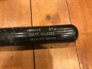 1994 Dave Nilsson Milwaukee Brewers Louisville Slugger Game Bat 34 ""