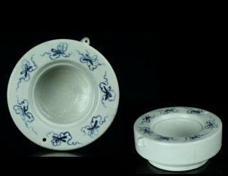 Oct298 Korean Late Joseon Blue&white Porcelain Big Water Dropper Suiteki