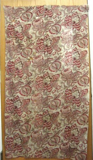 Antique Early 19th C.  French Block Print Fabric (9459)