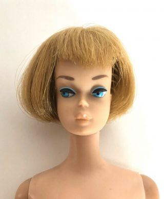 Vintage Mattel Barbie American Girl Doll Ash Blonde With 1962 Midge/barbie Body