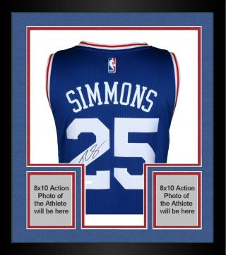 Framed Ben Simmons Philadelphia 76ers Autographed Away Jersey Upper Deck