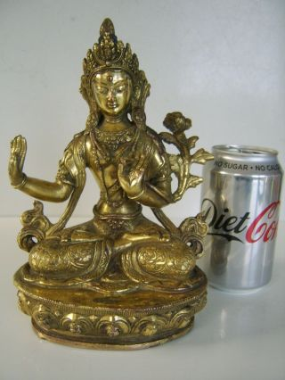 The Best Large Antique Chinese Tibetan Gilt Bronze Buddha Museum Quality