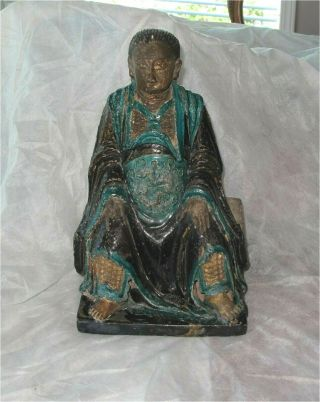 Ming Dynasty Chinese Sancai Glazed Figure Daoist Deity Immortals Scholars 1600