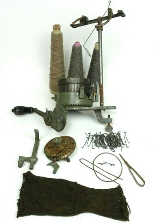 Steber No1 Circular Sock Knitting Machine Antique For Parts/repair Ithica,  N.  Y.