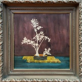 French Sanyu Signed Antique Oil / Wood Panel Painting