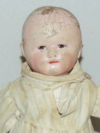 Early Antique Doll Martha Chase Stockinette American Little One