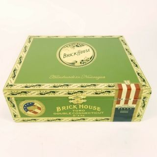 Brickhouse - Toro Double Connecticut Green Cigar Box With Gold Art And Lettering