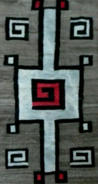 Antique Navajo Rug Blanket Native American Indian Tapestry Weaving Cn Cotton
