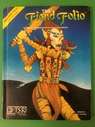 Fiend Folio Tsr - Vintage Dungeons & Dragons Rpg - D&d - Hardcover Hc