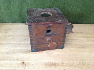 Antique Wooden Bee Lining Or Hunting Box Apiary Beekeeping W Glass Window