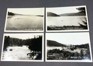 Set Of 4 Vintage Oakland Md Deep Creek Lake Post Cards