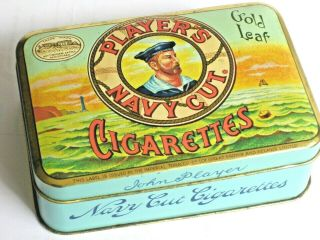 Players Navy Cut Cigarette Box Tobacco Hinged Lid