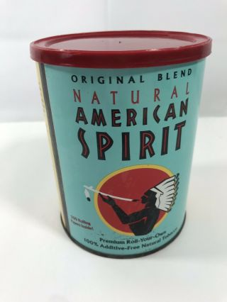 Natural American Spirit Tobacco Tin W/lid Collectible Vintage Cigar Room Display