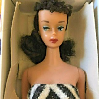 Vintage Barbie 4 Brunette Ponytail Nm And Gorgeous