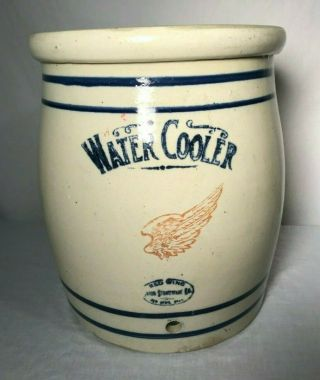 Antique Red Wing Water Cooler Crock Union Stoneware 5 Minnesota