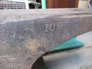 Antique Hay Budden 150 Lb Anvil