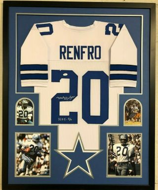 Framed Dallas Cowboys Mel Renfro Autographed Signed Inscribed Jersey Jsa