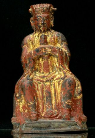 Late Ming / Early Qing Chinese Gilt Metal Buddha Statue (possibly Bronze)