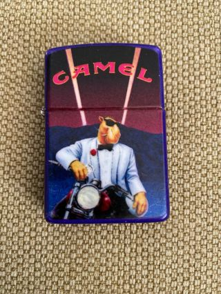 Joe Camel Zippo Painted Lighter Motorcycle