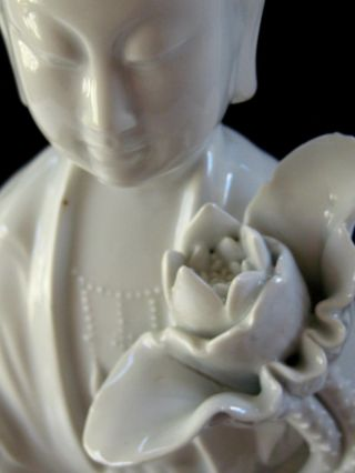 "Early 20th Cent.  Chinese Porcelain Blanc De Chine Figurine Of Kwan Yin 18 "" Tall"