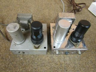Pair Vintage Phono Preamps With Strong Tubes For Restoration Or Parts