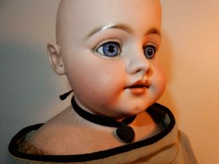 """Antique German Bisque Simon Halbig 1010 For French Market Large Doll 24 """" Tlc"""
