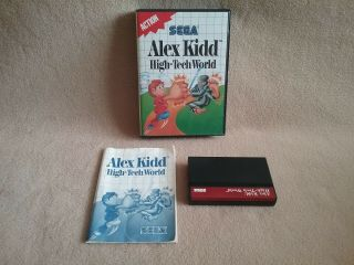 Vintage 1989 Sega Master System Sms Game Alex Kidd High Tech World Complete