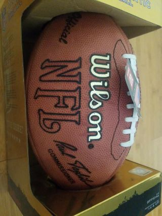 """Nfl Authentic Wilson """"the Duke"""" Football Autographed By Hof 49er Jerry Rice,"""