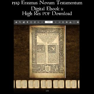 1519 Erasmus Novum Testamentum Greek Testament Digital Ebook And Pdf