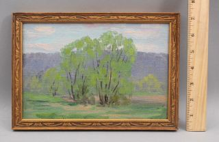Antique Will Hutchins American Impressionist Wooded Landscape Oil Painting,  Nr