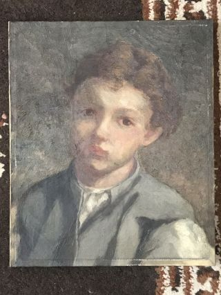 Exquisite Antique Old Master Portrait Oil Painting Of A Boy Canvas Framed Nr