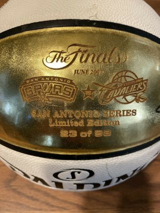 Signed 2007 Nba Finals Championship Limited 23 Of 98 Basketball