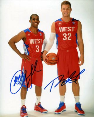 Chris Paul Blake Griffin Signed Autograph 8x10 Photo Los Angeles Clippers